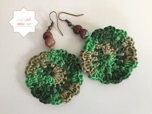 Orecchini - Syrian Flower - Verde della terra
